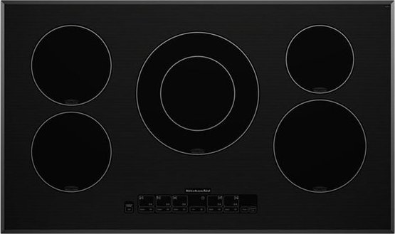 Kitchenaid Kicu568sbl 36 Induction Cooktop With 5 Cooking Zones Performance Boost Function And Electronic Touch Controls