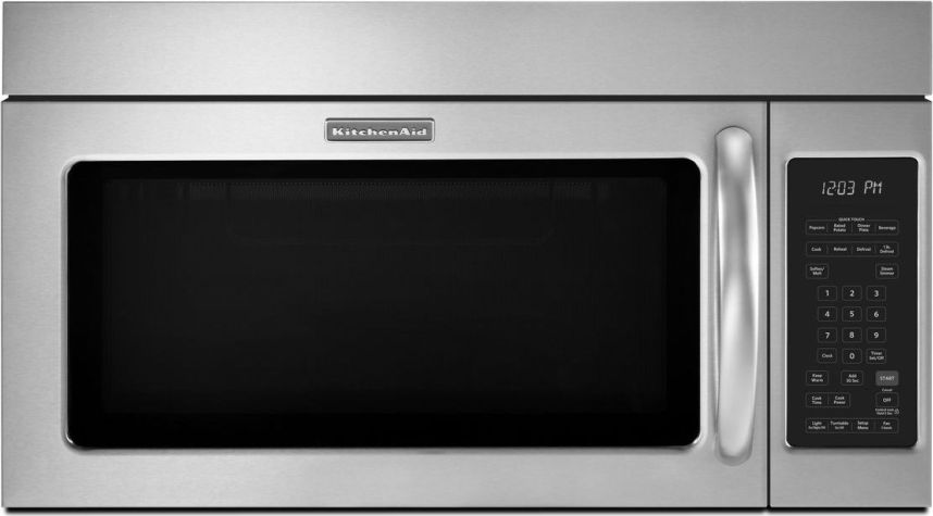 Good KitchenAid KHMS2040BSS 2.0 Cu. Ft. Over The Range Microwave With 1000  Cooking Watts, 300 CFM Venting System, Quick Defrost Cycle, Popcorn Sensor  And ...