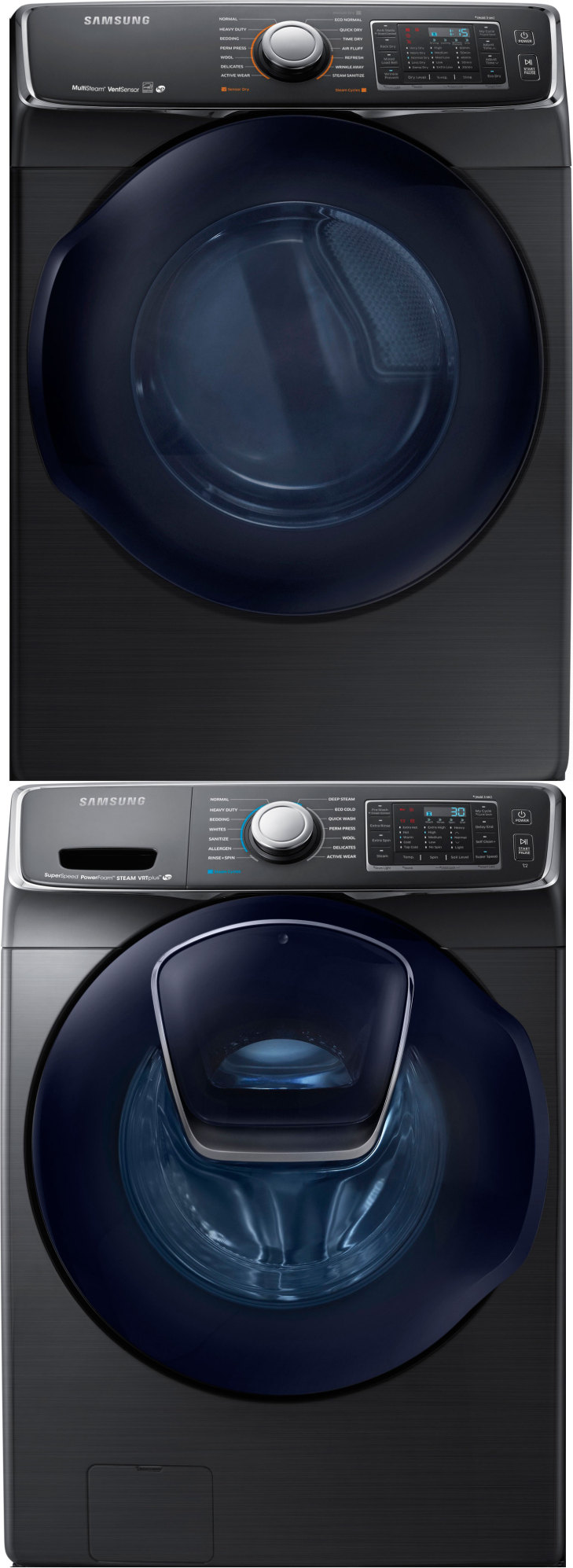 Samsung WF50K7500AV Front Load Washer DV50K7500EV Electric Dryer w