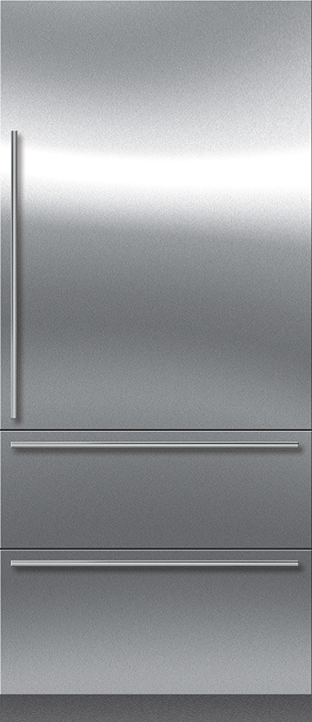 Sub Zero It 36ciid Lh 36 Integrated Bottom Freezer Refrigerator With Internal Dispenser Left Hinge