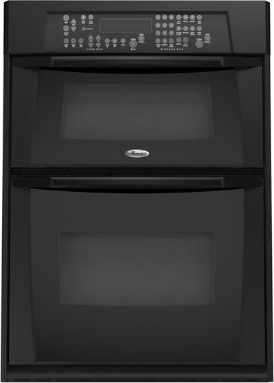 Whirlpool Gmc305prb 30 Built In Microwave Combination Double Wall Oven Black